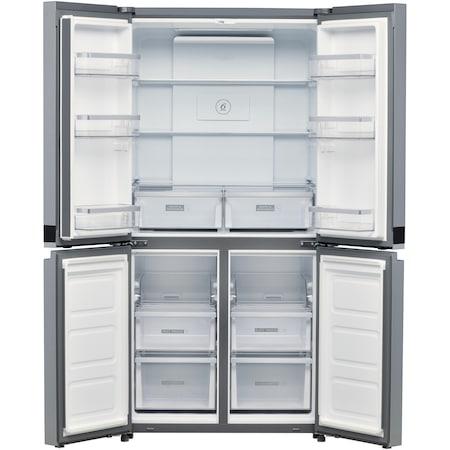 Хладилник Side by side Whirlpool WQ9 B2L, 591 л, No Frost, 4 врати, Клас E, H 187,4 см, Inox