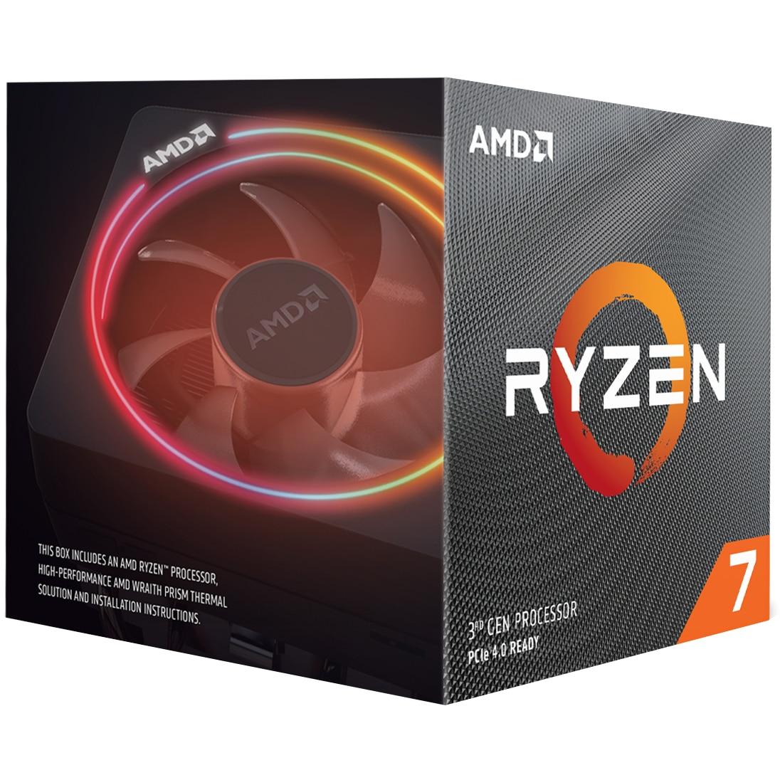 Fotografie Procesor AMD Ryzen™ 7 3800X, 36MB, 4.5 GHz cu Wraith Prism cooler