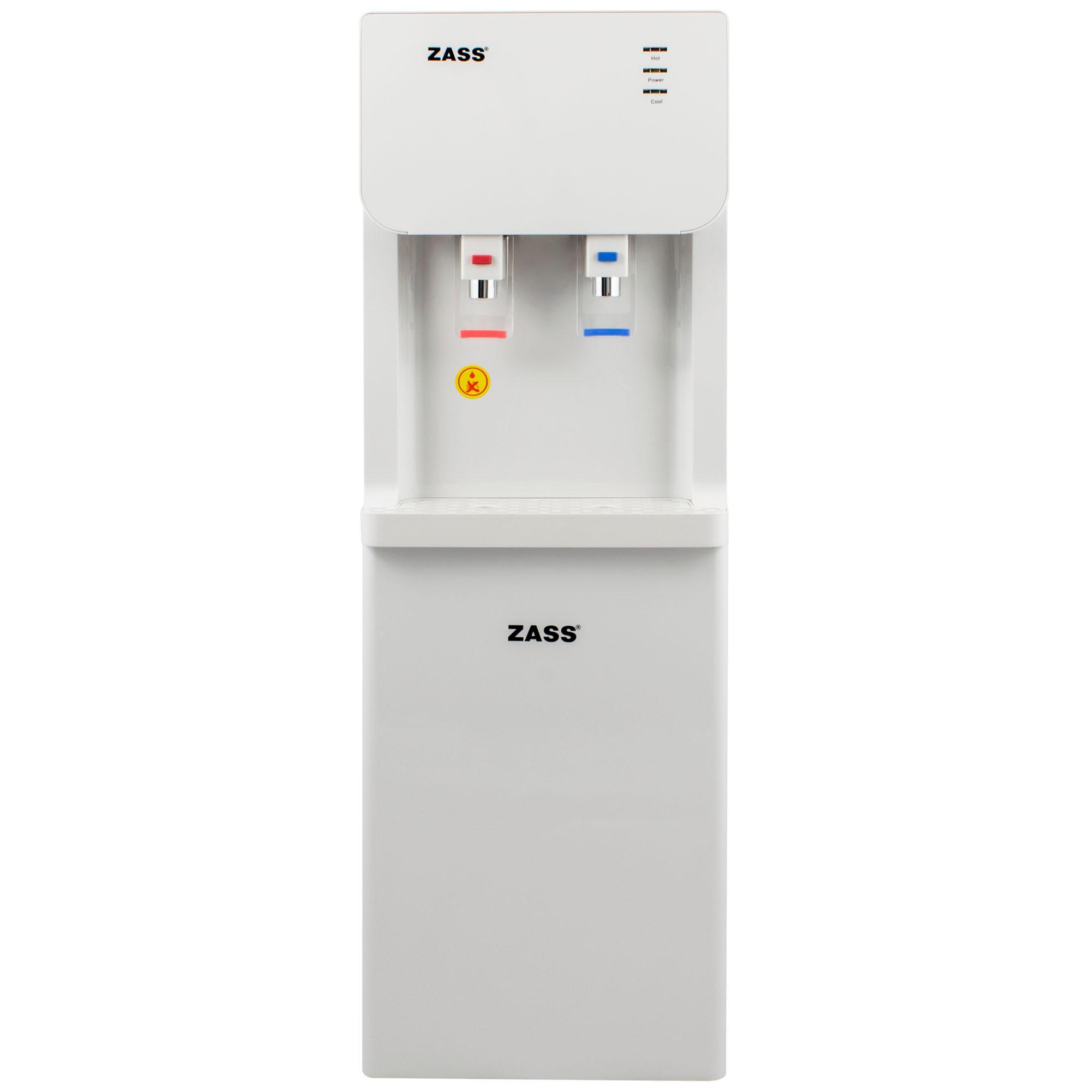 Fotografie Dozator apa de podea Zass ZWD 07 WF cu conexiune la retea, sistem de filtrare a apei, apa calda/apa rece, racire cu compresor