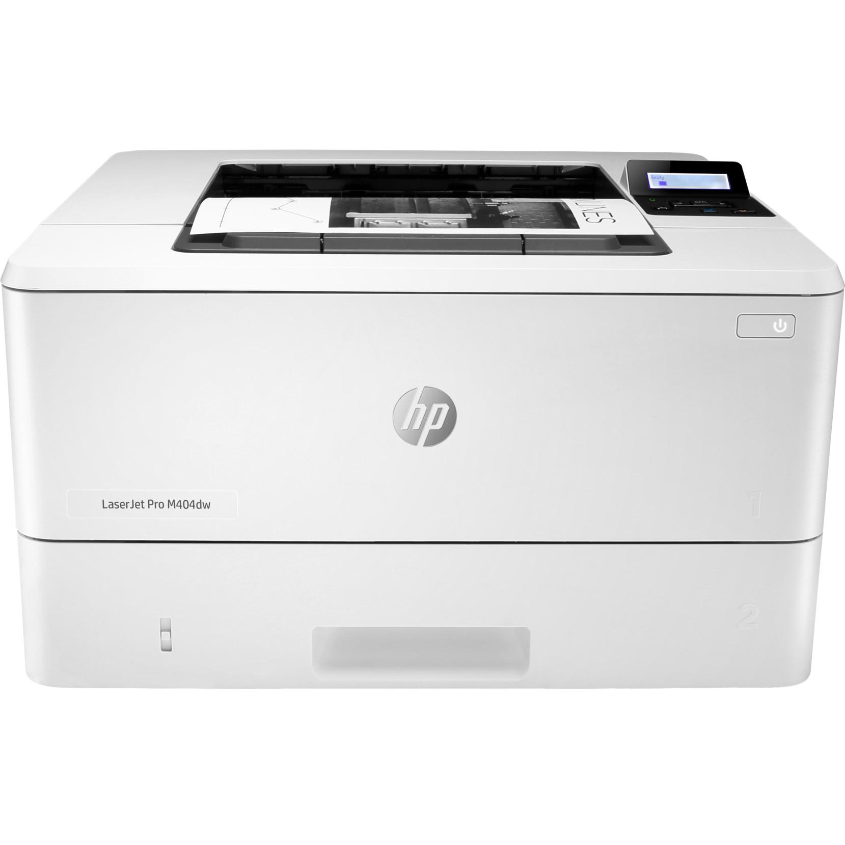 Fotografie Imprimanta laser monocrom HP LaserJet Pro M404dw, Duplex, Retea, Wireless, A4