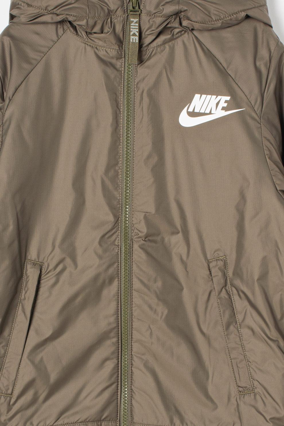 Nike, Kapucnis dzseki polárbéléssel, Szürke, 128 137 CM