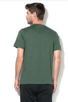 Nike, Tricou cu logo brodat Club, Verde feriga