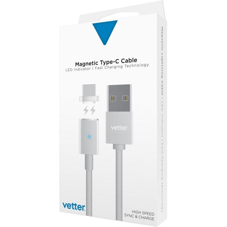 Fotografie Cablu de date Vetter Type-C Magnetic, Silver