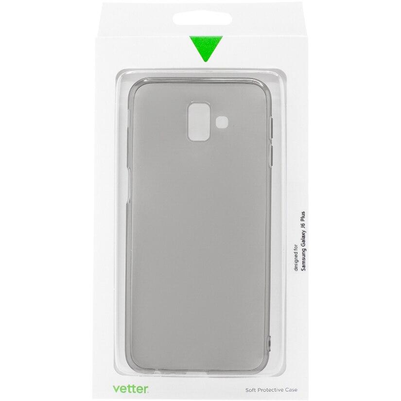 Fotografie Husa de protectie Vetter Soft Touch Slim pentru Samsung Galaxy J6+, Black