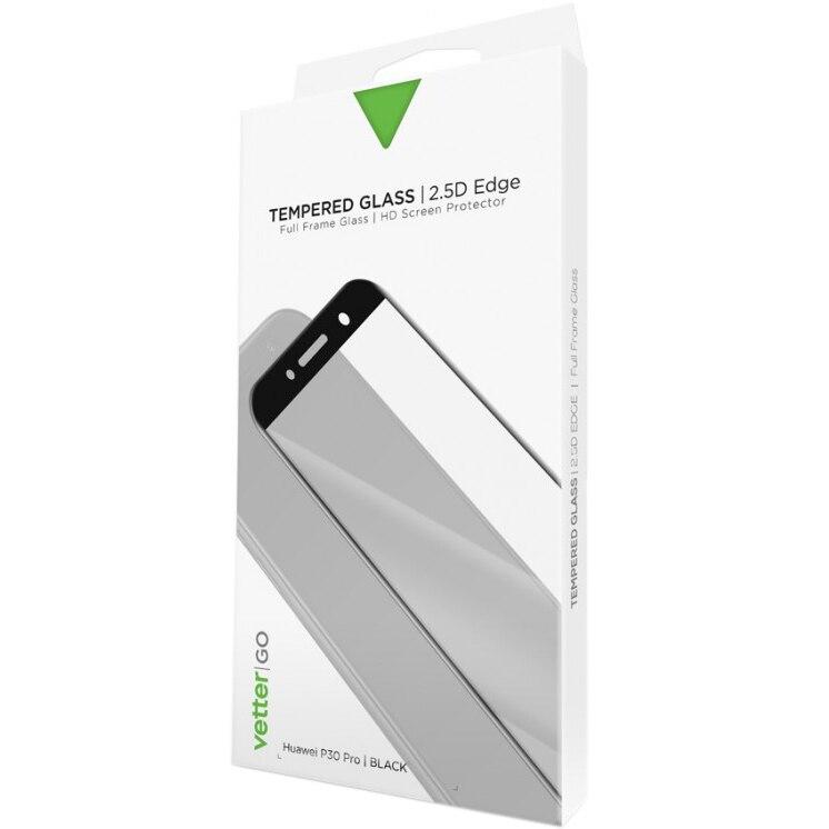Fotografie Folie de protectie Vetter Tempered Glass Vetter GO pentru Huawei P30 Pro, Black