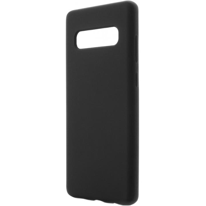 Fotografie Husa de protectie Vetter Clip-On Soft Touch Silk Series pentru Samsung Galaxy S10+, Black