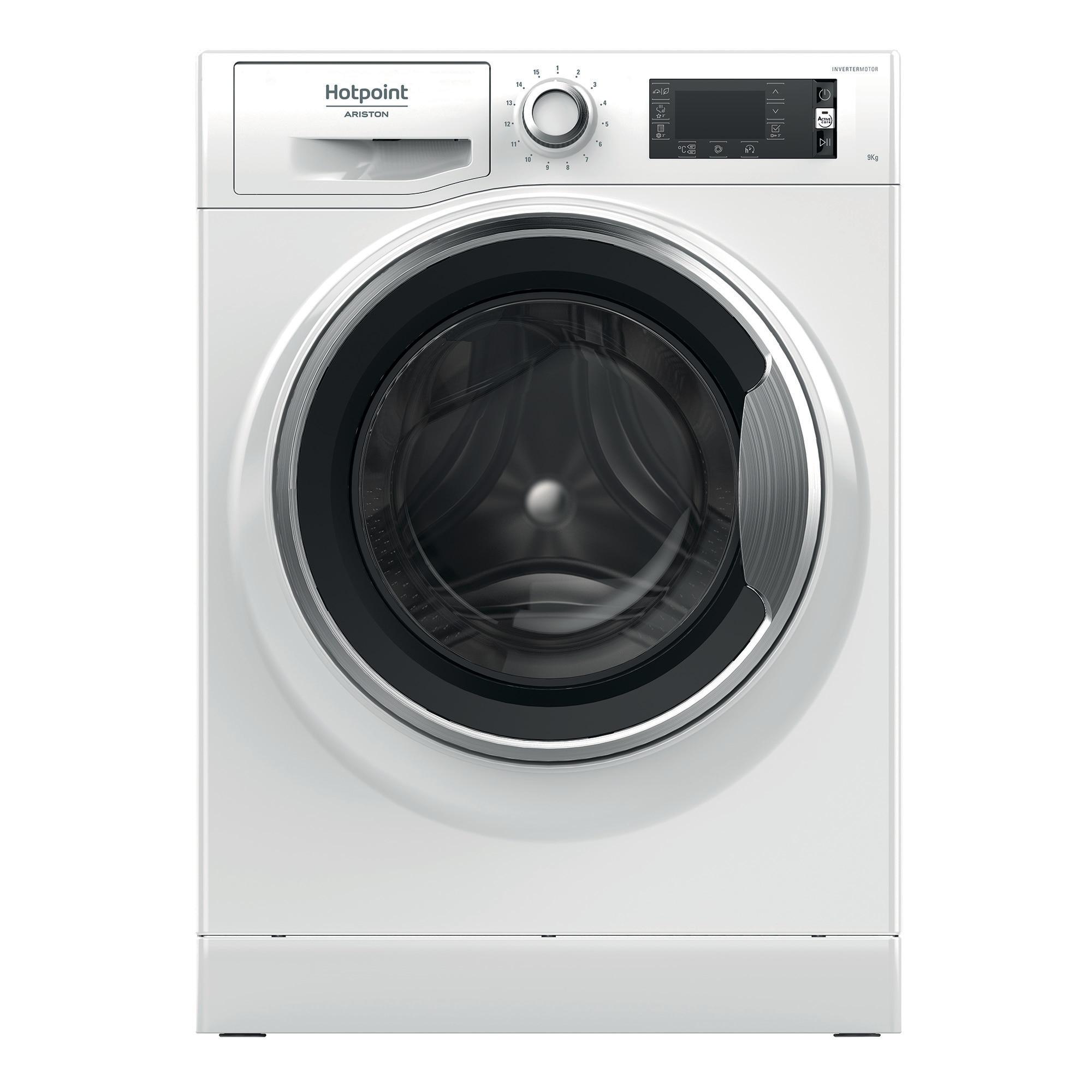 Fotografie Masina de spalat rufe Hotpoint NLLCD 946 WC A EU, 9kg, 1400Rpm, Clasa A+++, Alb