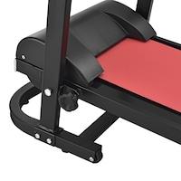 Banda alergare HTRM3941,in.tec, 125 x 65 x 121 cm, maxim 200 Kg, negru/rosu multifunctionala, cu LC