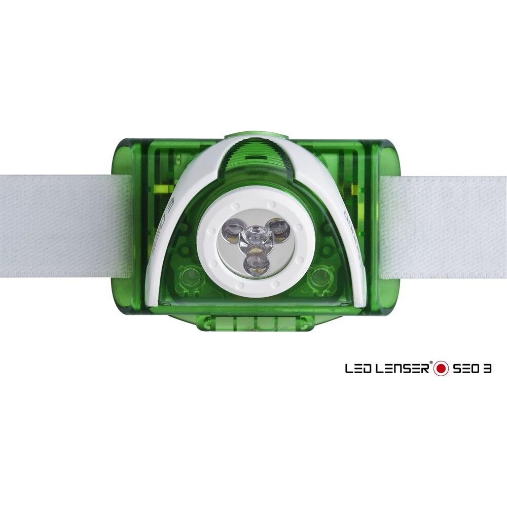 LEDLENSER SEO3 3xAAA 100 lm fejlámpa zöld 6003 nX6ET5