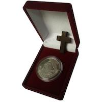 """Монета от чисто сребро """"Иисус от Назарет - Пътят към Голгота"""" Rusalia, 32.6 мм, 16 гр., проба на среброто Ag 999.9"""