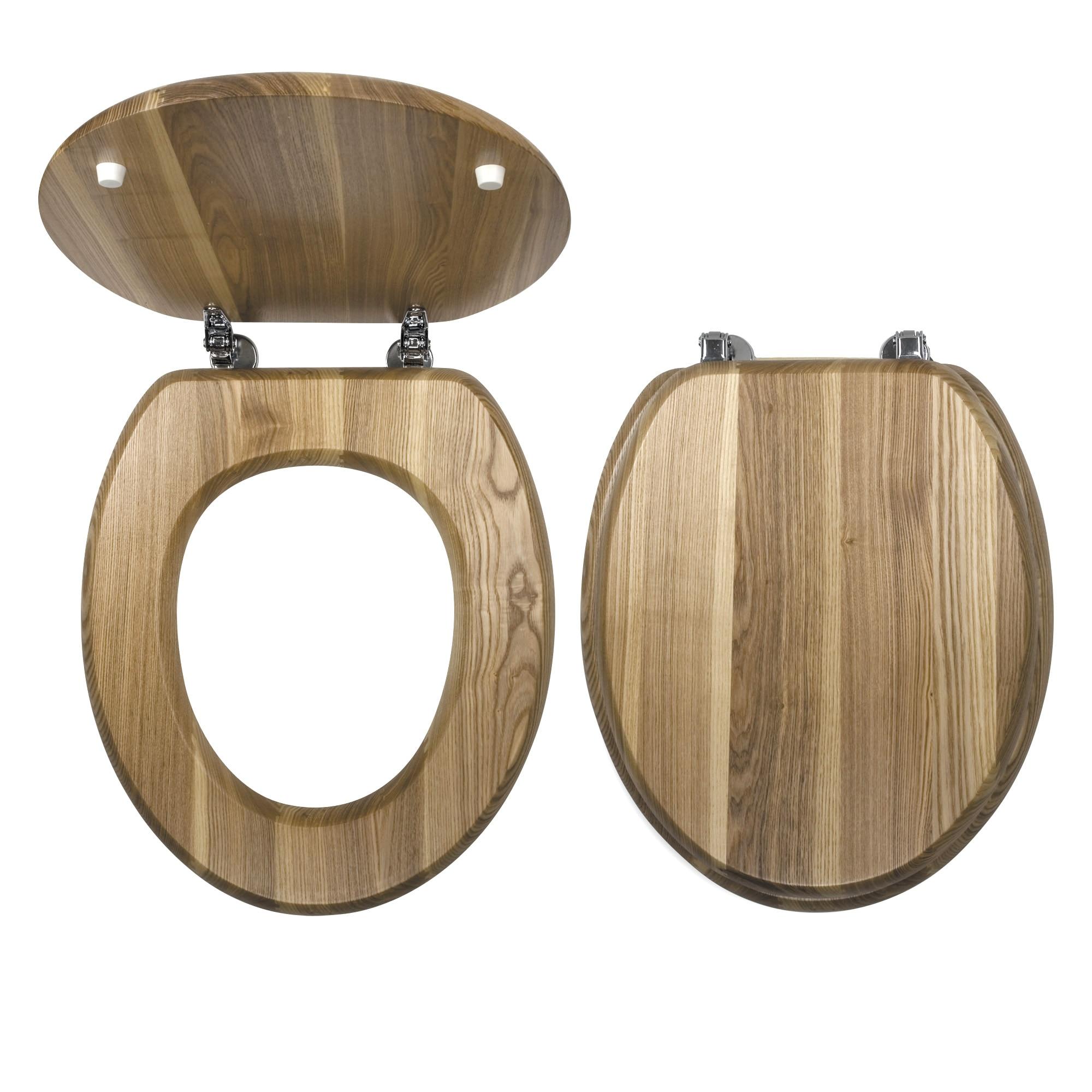 Fotografie Capac WC Novaservis, lemn de frasin, Natur