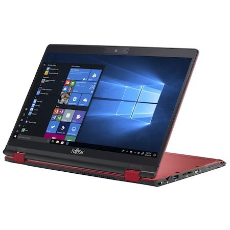 Лаптоп Fujitsu LifeBook U939X с Intel Core i7-8665U (1.90/4.80 GHz, 8M), 16 GB, 512GB M.2 SSD, Intel UHD Graphics 620, Windows 10 Pro 64-bit, червен