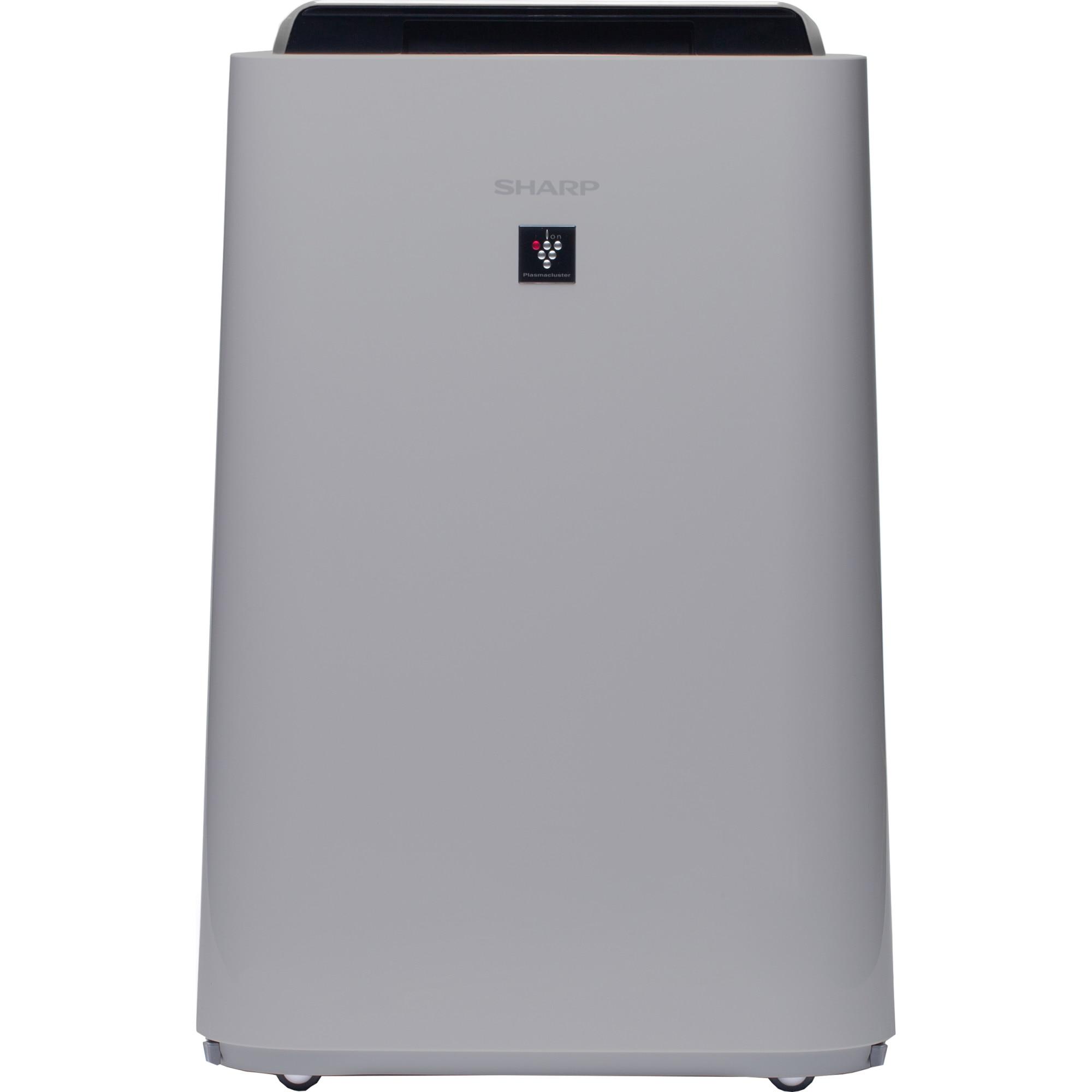 Fotografie Purificator de aer cu umidificator Sharp UA-HD40E-L, 3 modele de filtrare, 4 senzori de praf, Plasmacluster Ion Technology, 26m², alb