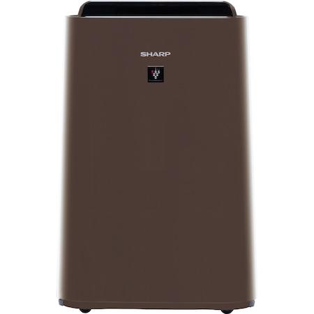 Purificator de aer cu umidificator Sharp UA-HD40E-T, 4 modele de filtrare, 4 senzori de praf, Plasmacluster Ion Technology, 26m², maro