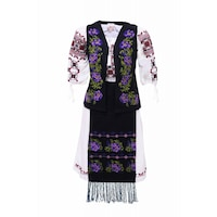Costum dama cu motive traditionale, DAE3867, XL INTL