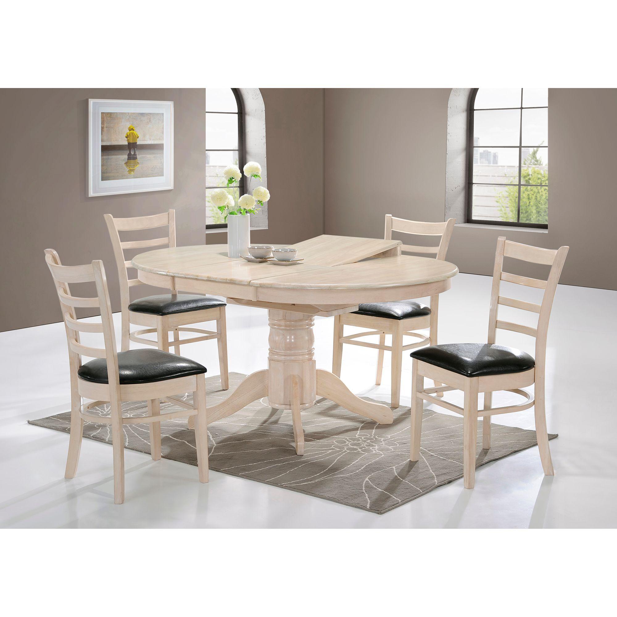 Fotografie Set 2 scaune dining / bucatarie Kring Virginia, tapitate, lemn masiv, 90x42x52 cm, Alb crem