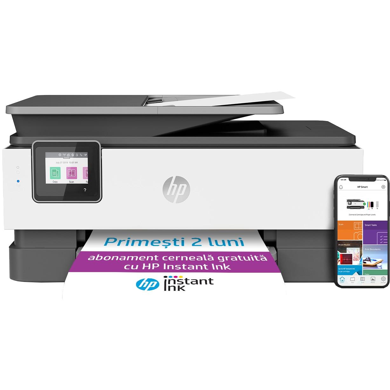 Fotografie Multifunctional inkjet color HP OfficeJet Pro 8023, eligibil HP Instant Ink, Retea, Wireless, Duplex, ADF, A4