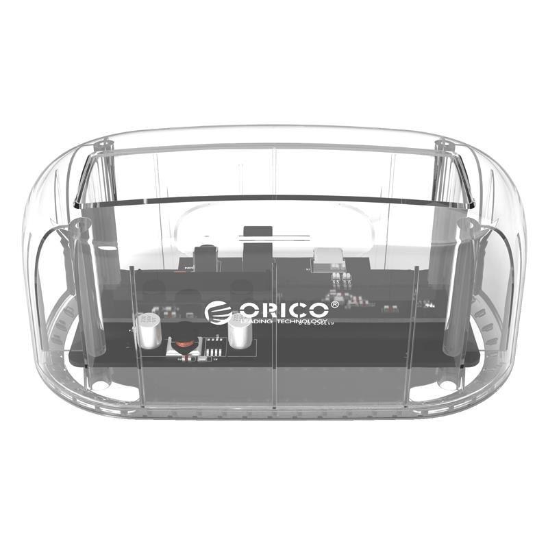 Fotografie Rack HDD Orico 6139U3 PRO, compatibil cu HDD/SSD 2.5/3.5, Transparent