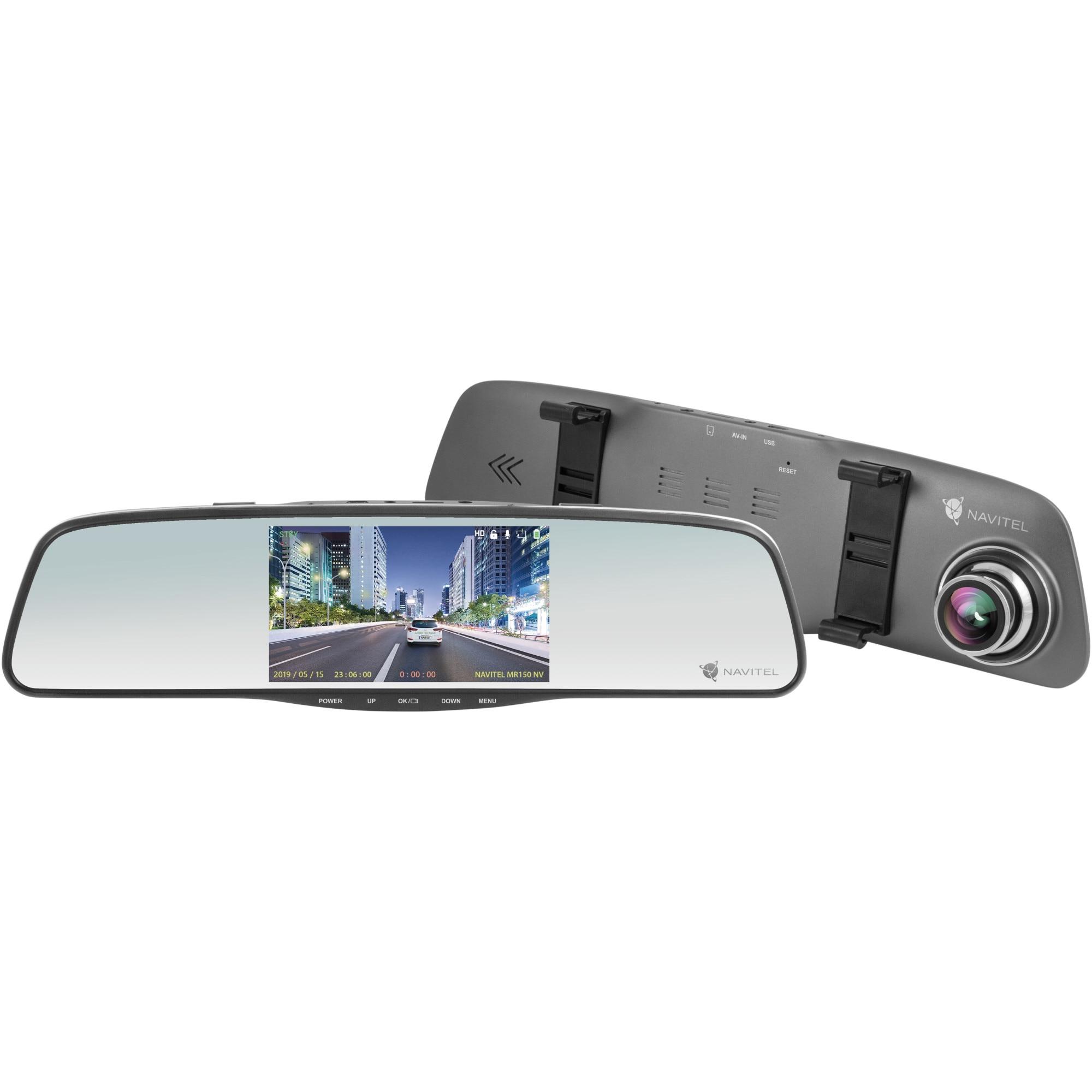 "Fotografie Camera Auto DVR Navitel MR150NV cu night vision, FHD, fixare pe oglinda retovizoare, ecran 5"", G-Sensor"