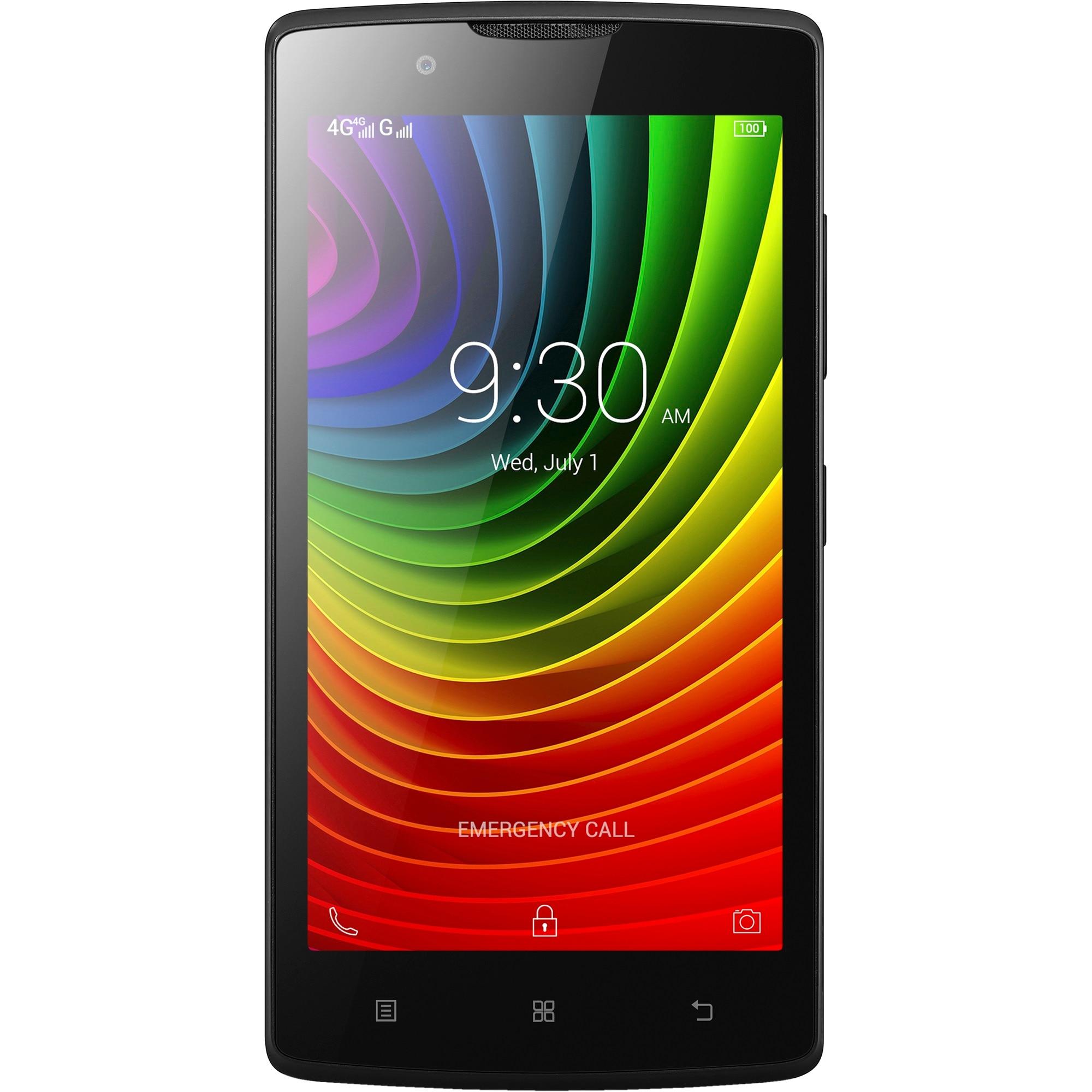 Lenovo A2010 Mobiltelefon, Kártyafüggetlen, Dual SIM, 8GB, LTE, Fekete
