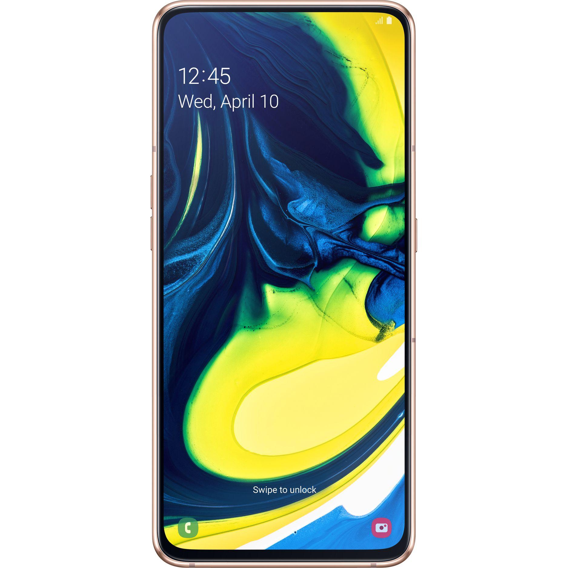 Fotografie Telefon mobil Samsung Galaxy A80, Dual SIM, 128GB, 8GB RAM, 4G, Angel Gold