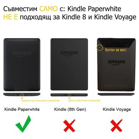 Комплект калъф Business за Kindle Paperwhite, Стъклен протектор, Писалка, Черен