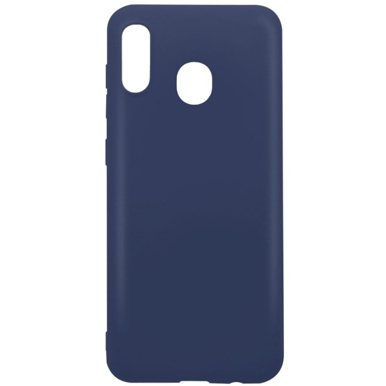 Fotografie Husa de protectie Lemontti pentru Samsung Galaxy A30, Silicon Silky, Blue