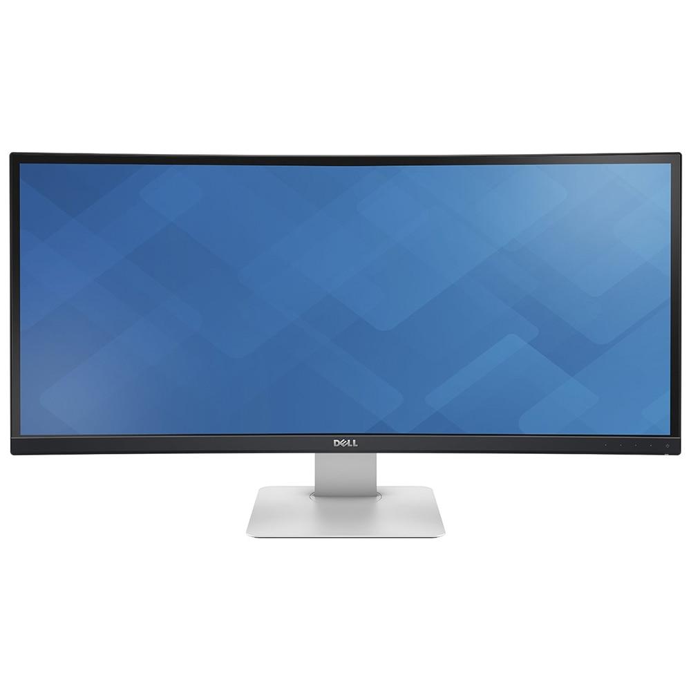 """Fotografie Monitor LED Dell, 34"""", Curbat, 2xHDMI, 2xDisplayPort, 4xUSB 3.0, Negru, U3415W"""