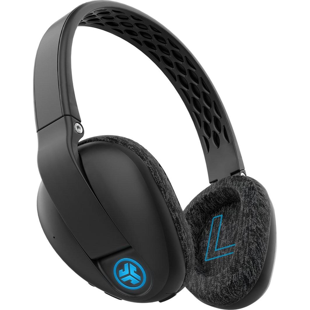 Fotografie Casti Audio Sport Over the Ear JLAB Flex, Wireless, Bluetooth, Microfon, Autonomie 20 ore, Negru