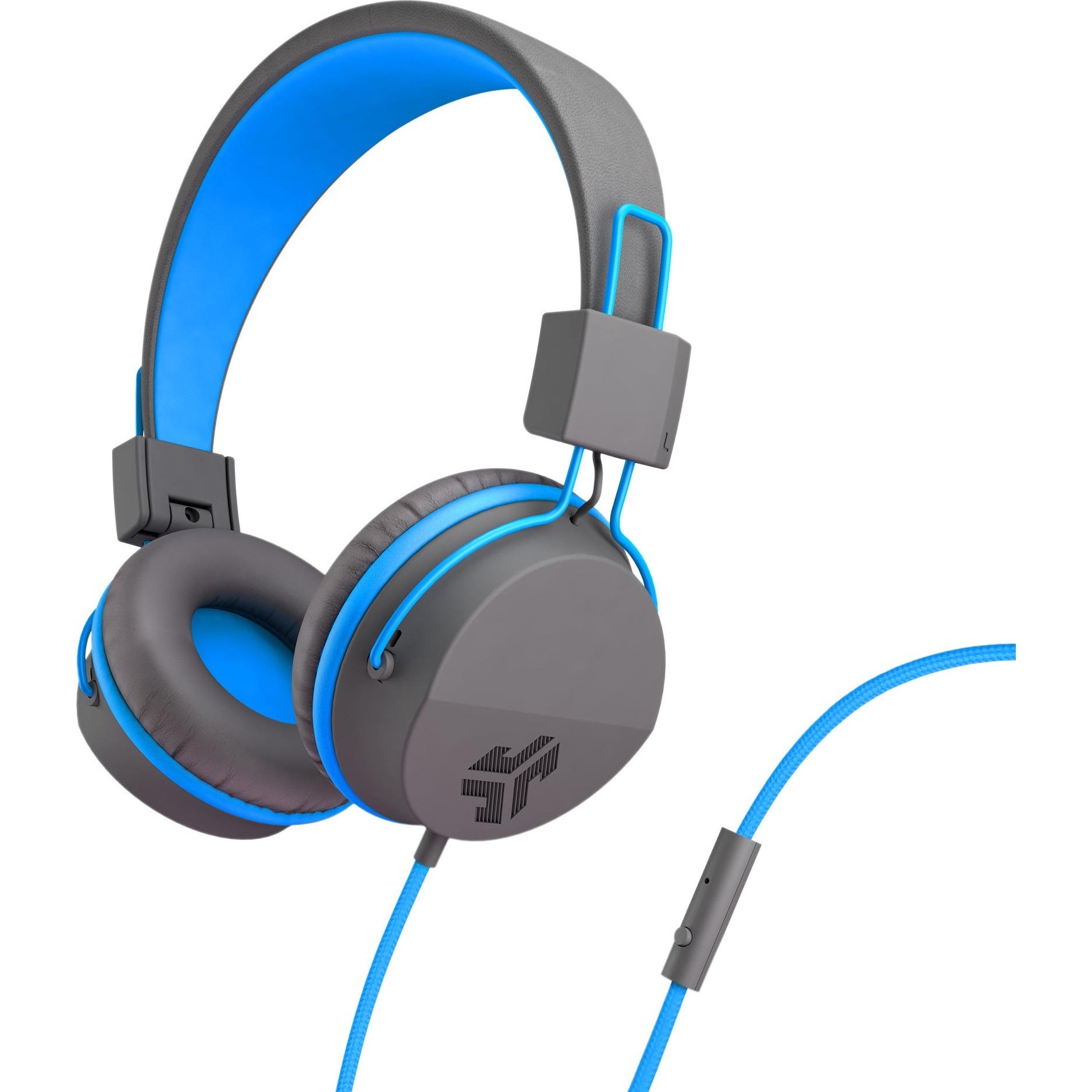 Fotografie Casti Audio pentru Copii On ear JLAB Studio Kids, Cu fir, Functie Bass, Microfon, Albastru