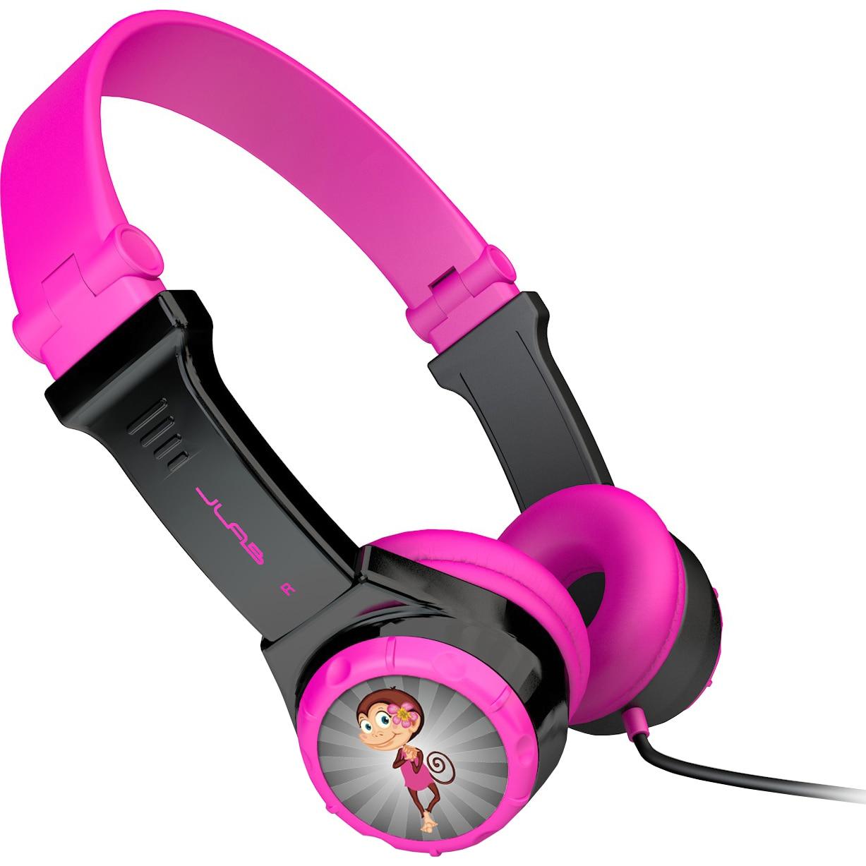 Fotografie Casti Audio pentru Copii On Ear pliabile JLAB JBuddies, Cu fir, Roz