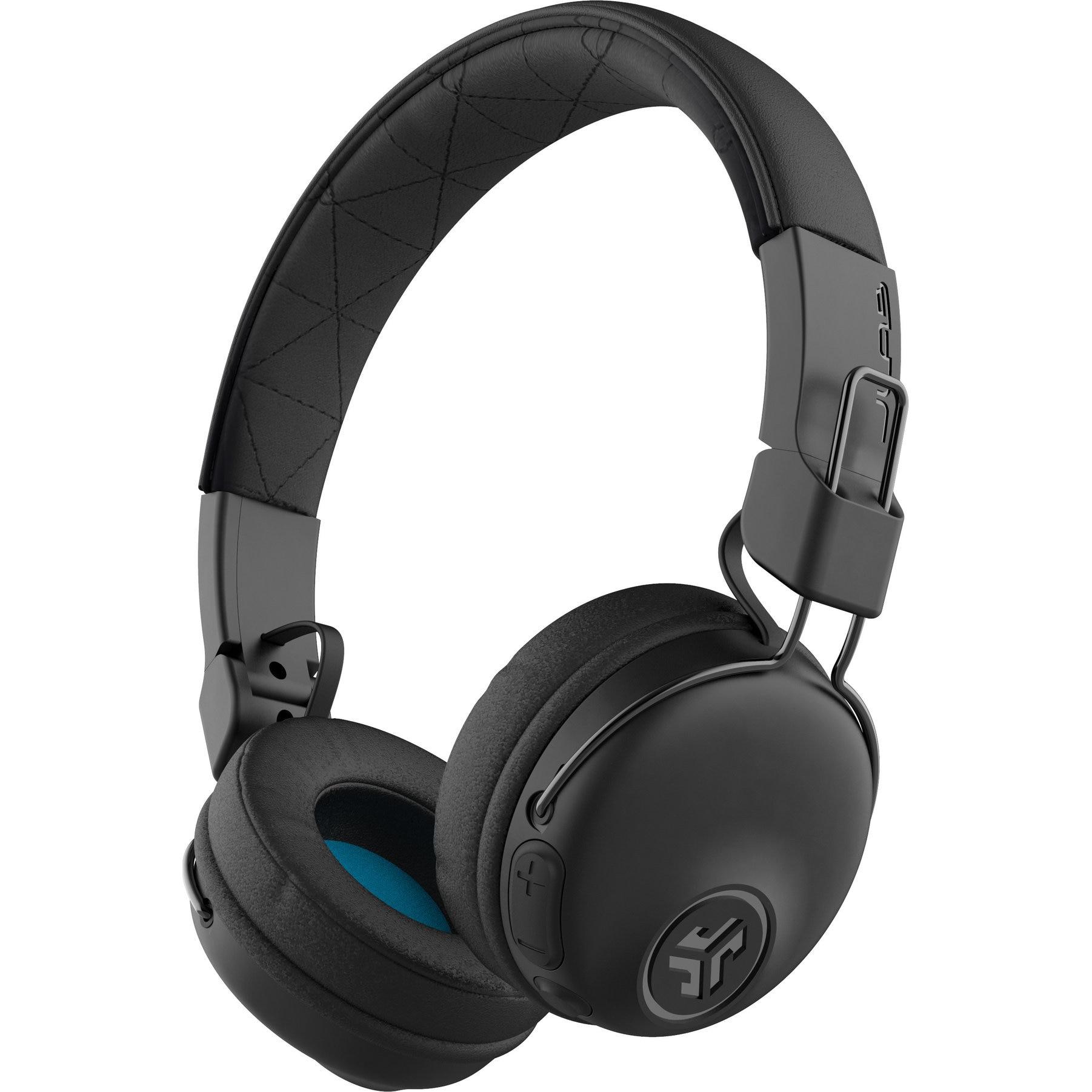 Fotografie Casti Audio On Ear pliabile JLAB Studio, Wireless, Bluetooth, Microfon, Autonomie 30 ore, Negru