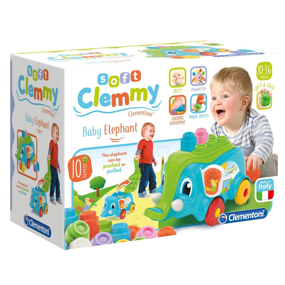 Fotografie Set cuburi Soft Clemmy - Elefantel, 10 piese