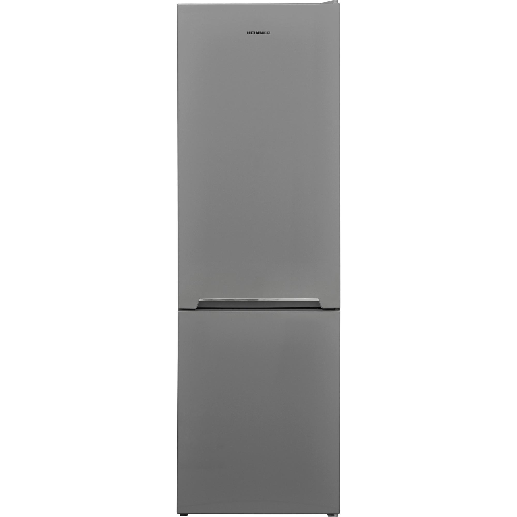 Fotografie Combina frigorifica Heinner HC-V268SA+, 268 l, Clasa A+, Control mecanic, H 170 cm, Argintiu