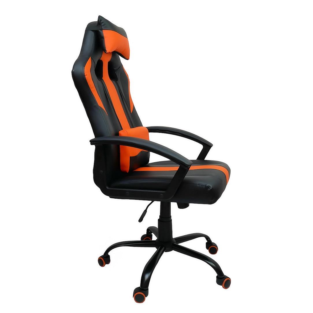 Zenga GT Gamer Szék Műbőr Fekete Narancs Max. súly: