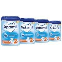 Pachet 4 x Lapte praf Aptamil Junior 2+, 800 g, 24-36 luni