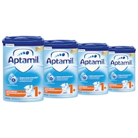 Pachet 4 x Lapte praf Aptamil Junior 1+, 800 g, 12-24 luni