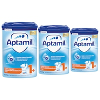 Pachet 3 x Lapte praf Aptamil Junior 1+, 800 g, 12-24 luni