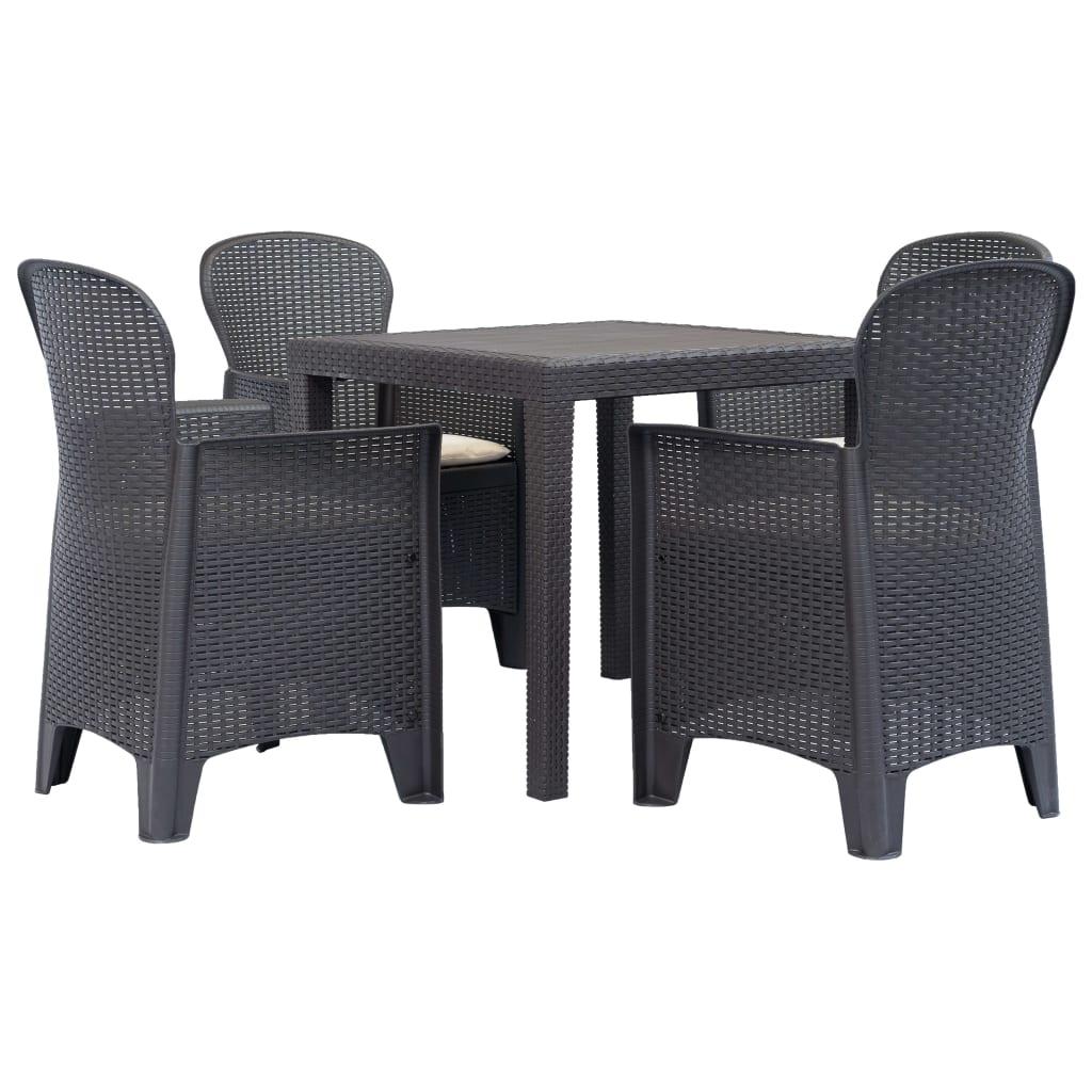 vida xl rattan öt darabos szék