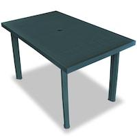 Градинска маса vidaXL, 126х76х72 см, пластмаса, зелена