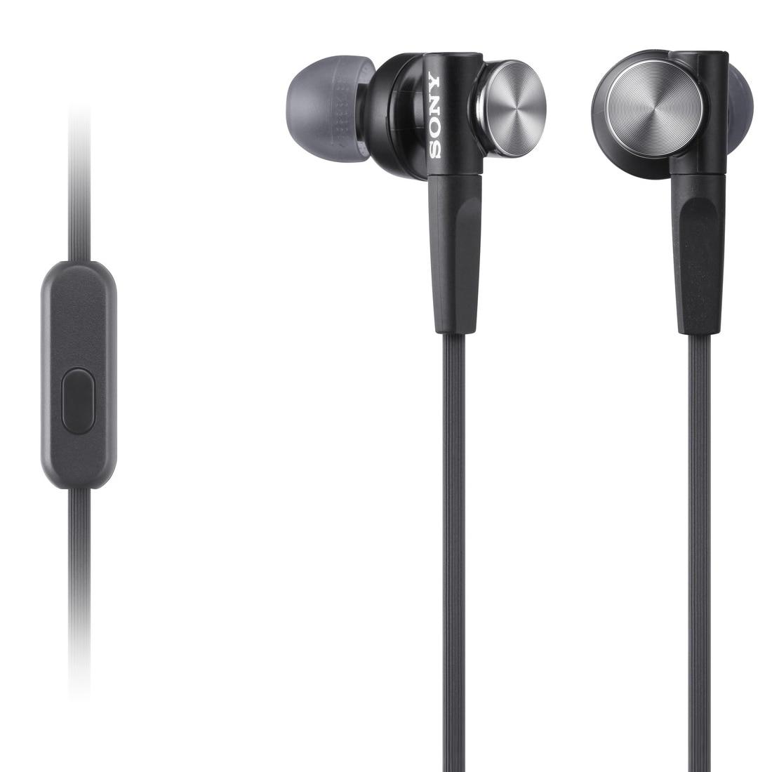 Fotografie Casti audio in-ear Sony MDR-XB50APB, Control Telefon, Extra Bass, Negru