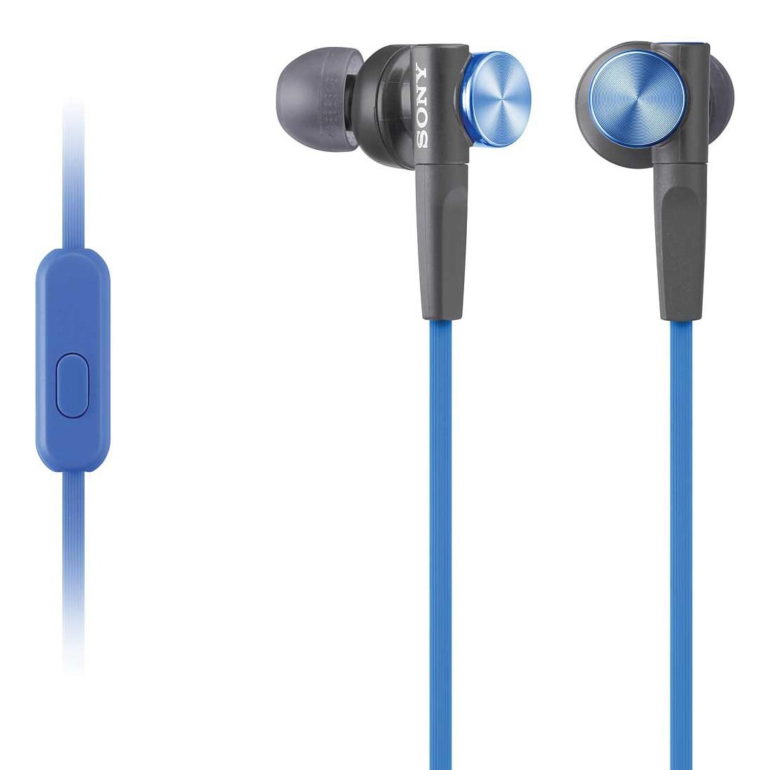 Fotografie Casti audio in-ear Sony MDR-XB50APL, Control Telefon, Extra Bass, Albastru