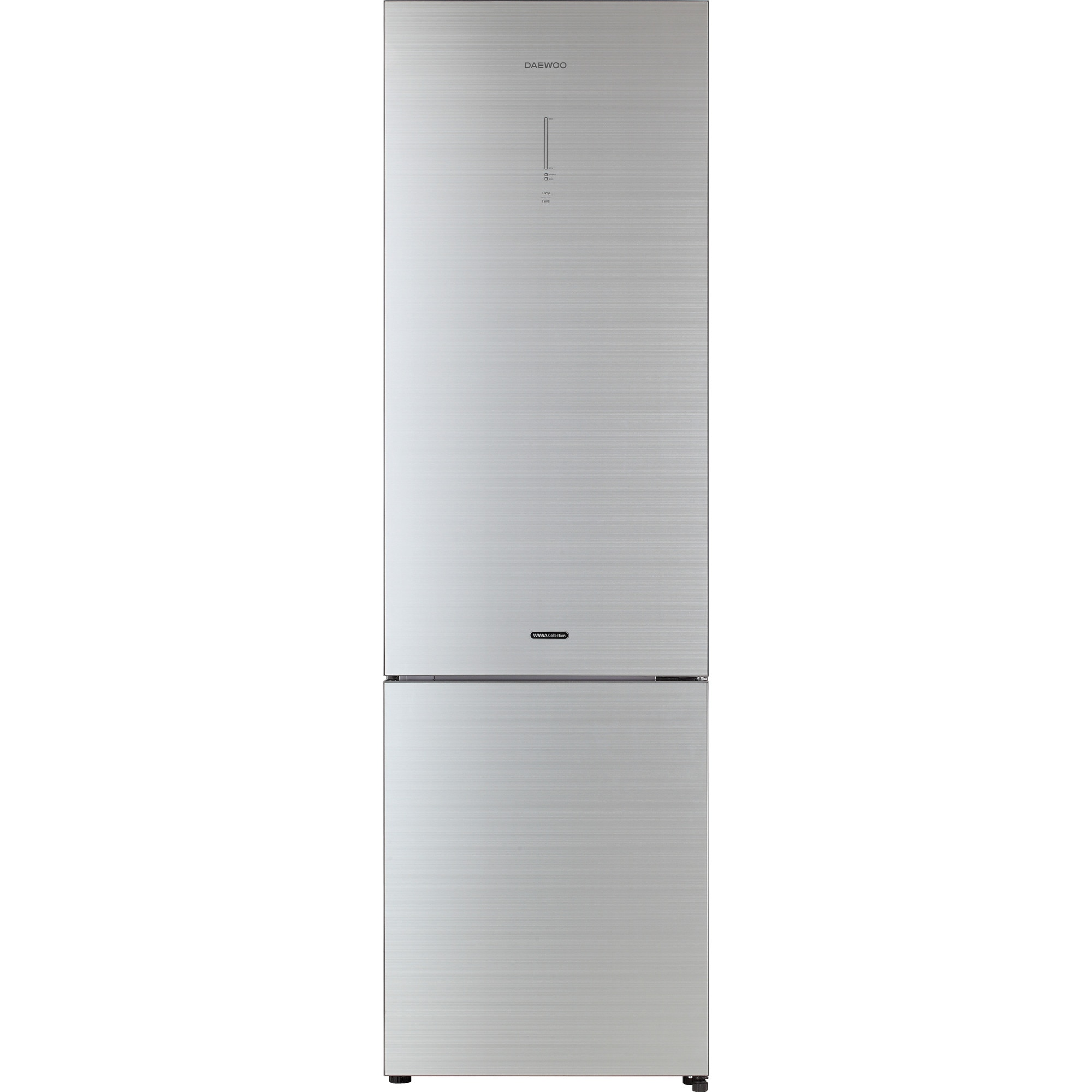 Fotografie Combina frigorifica Daewoo RN-T536RGS, 362 l, Clasa A++, Full No Frost, Iluminare LED, H 200 cm, Argintiu