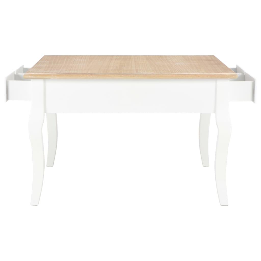 vidaXL fehér fa dohányzóasztal 80 x 80 x 50 cm oVzj6P