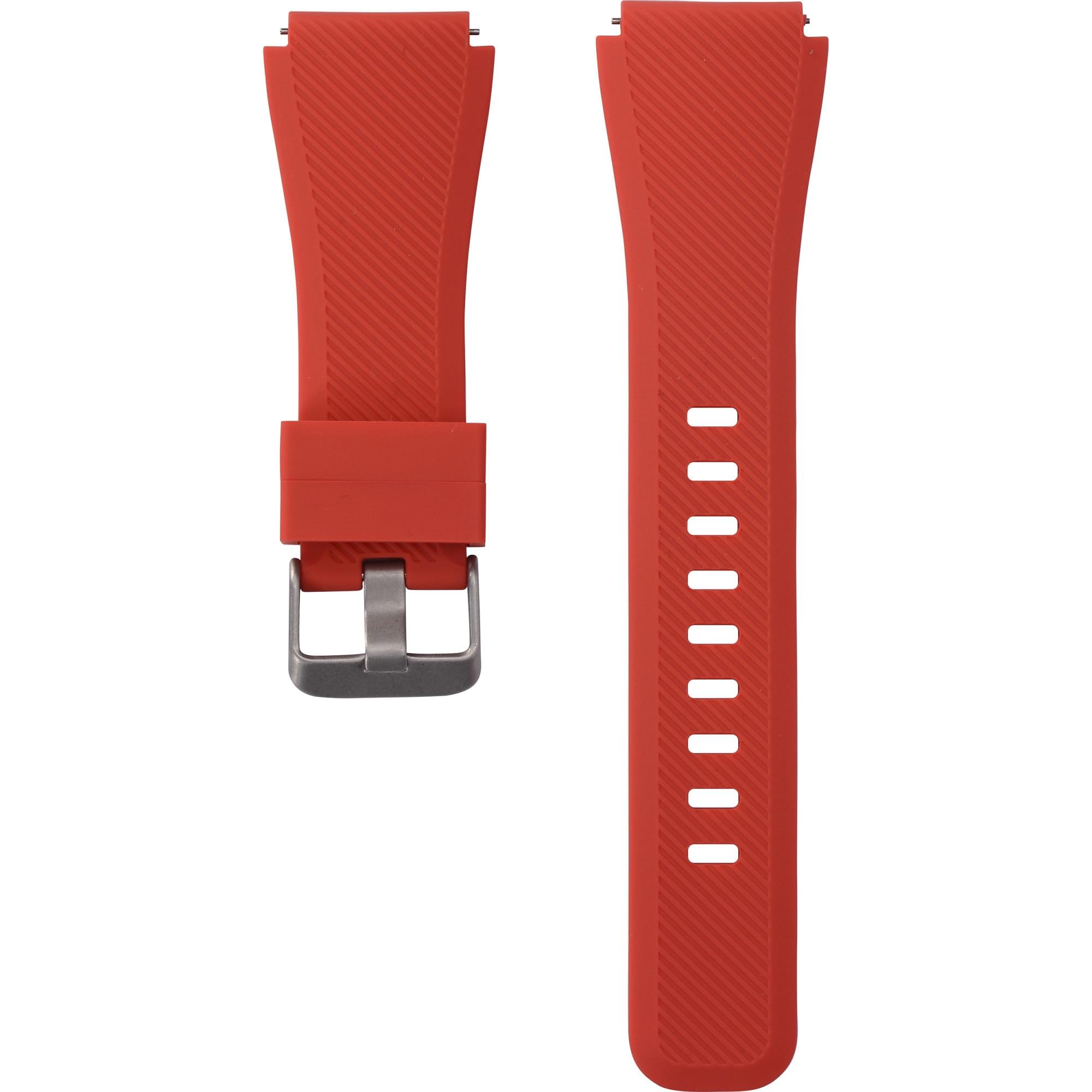 Fotografie Curea silicon Tellur pentru Samsung Gear S3/Watch 46mm/Huawei Watch GT-22mm, Red