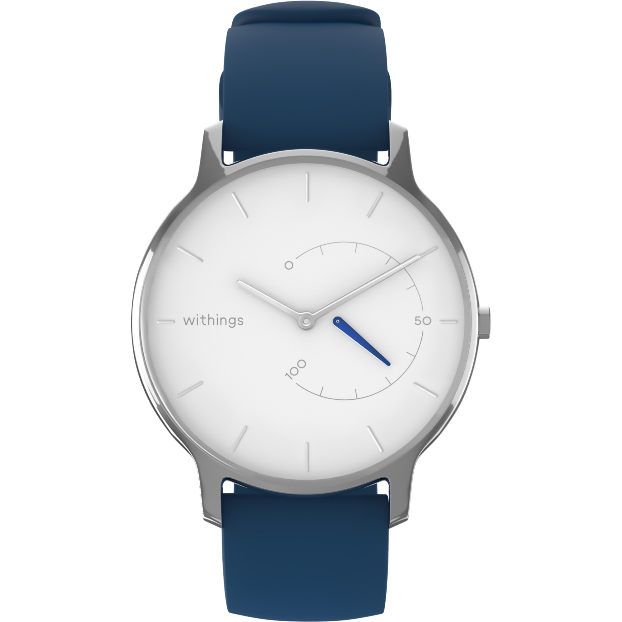 Fotografie Ceas smartwatch Withings Move Timeless Chic, Argintiu/Albastru