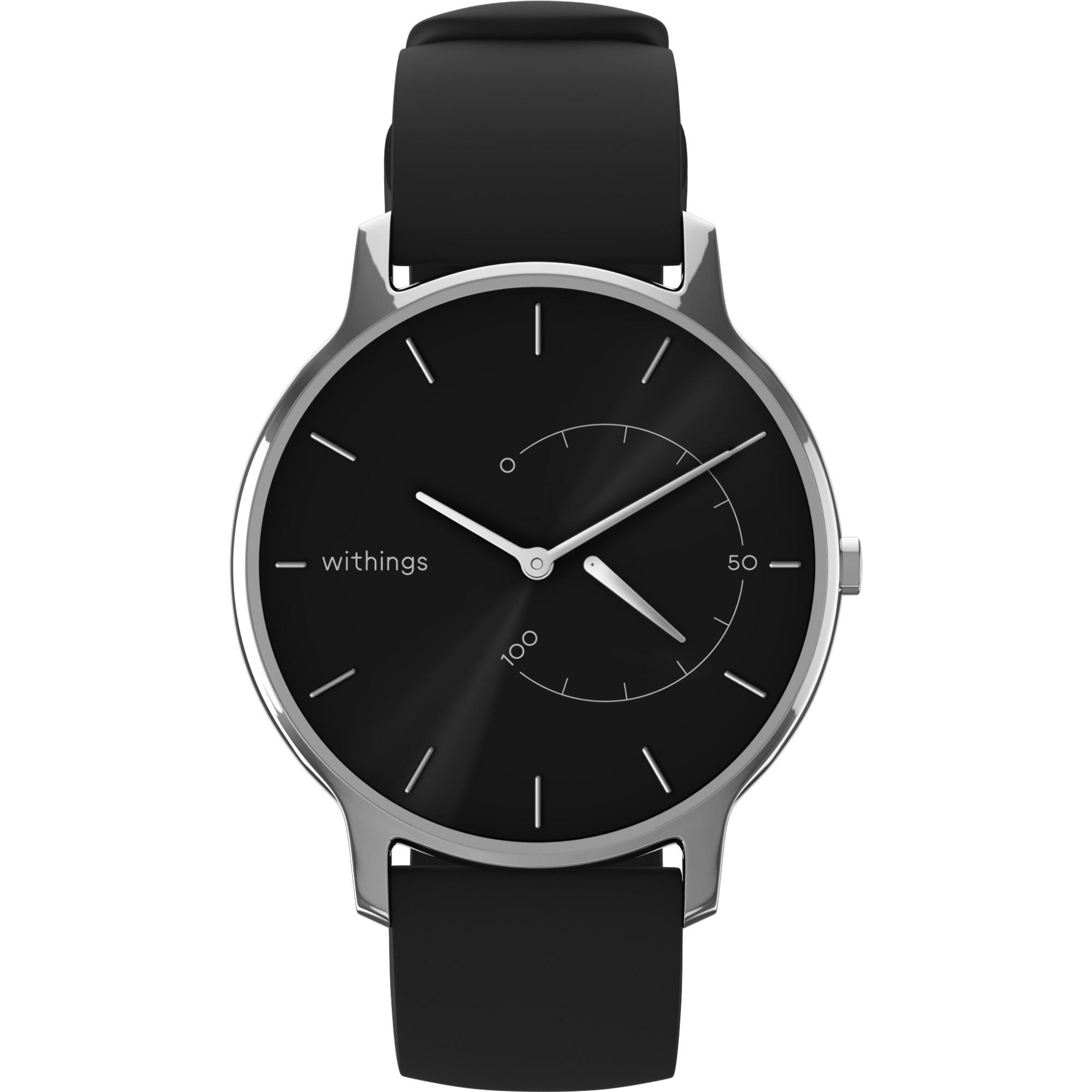 Fotografie Ceas smartwatch Withings Move Timeless, Negru/Argintiu
