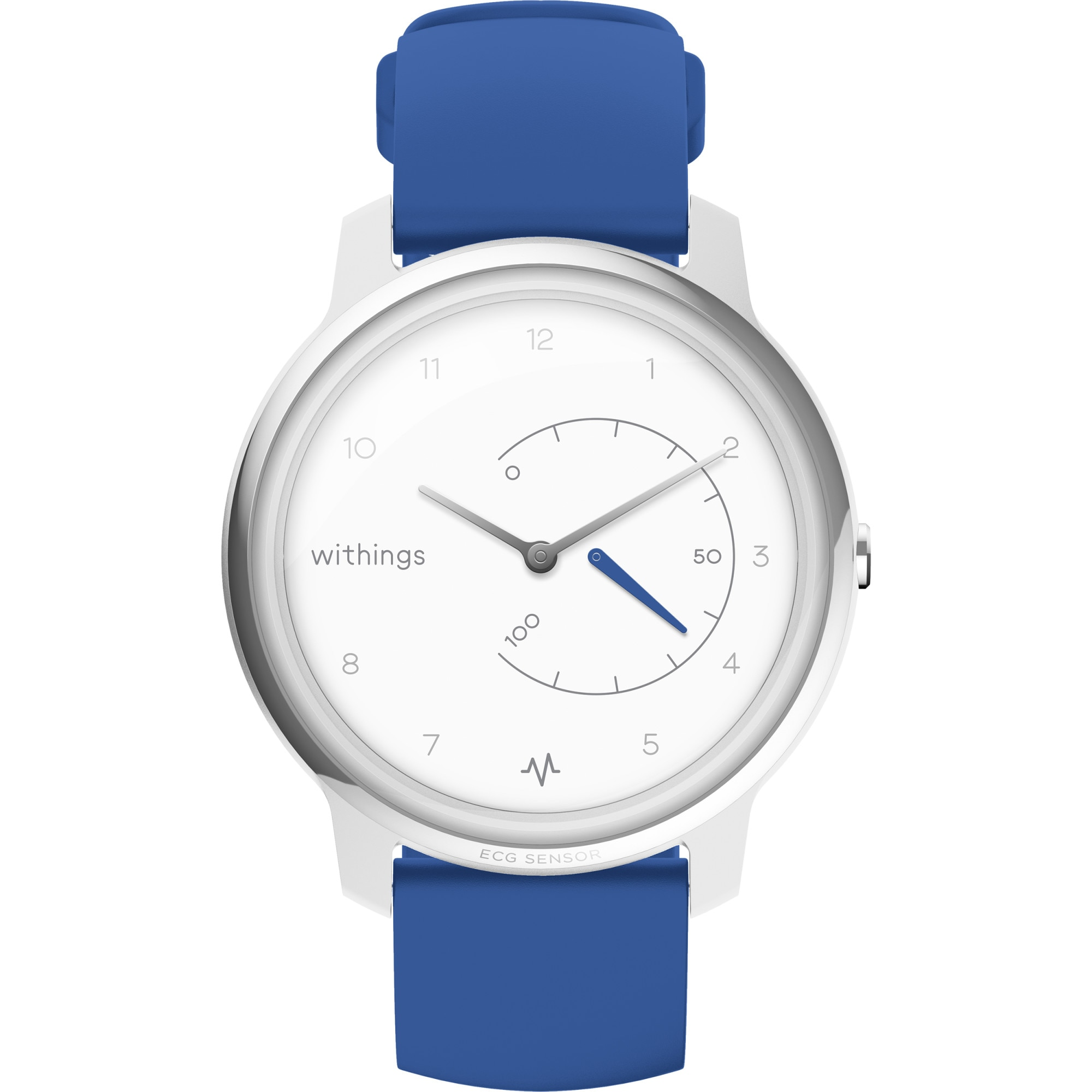 Fotografie Ceas smartwatch Withings Move ECG, Argintiu/Albastru