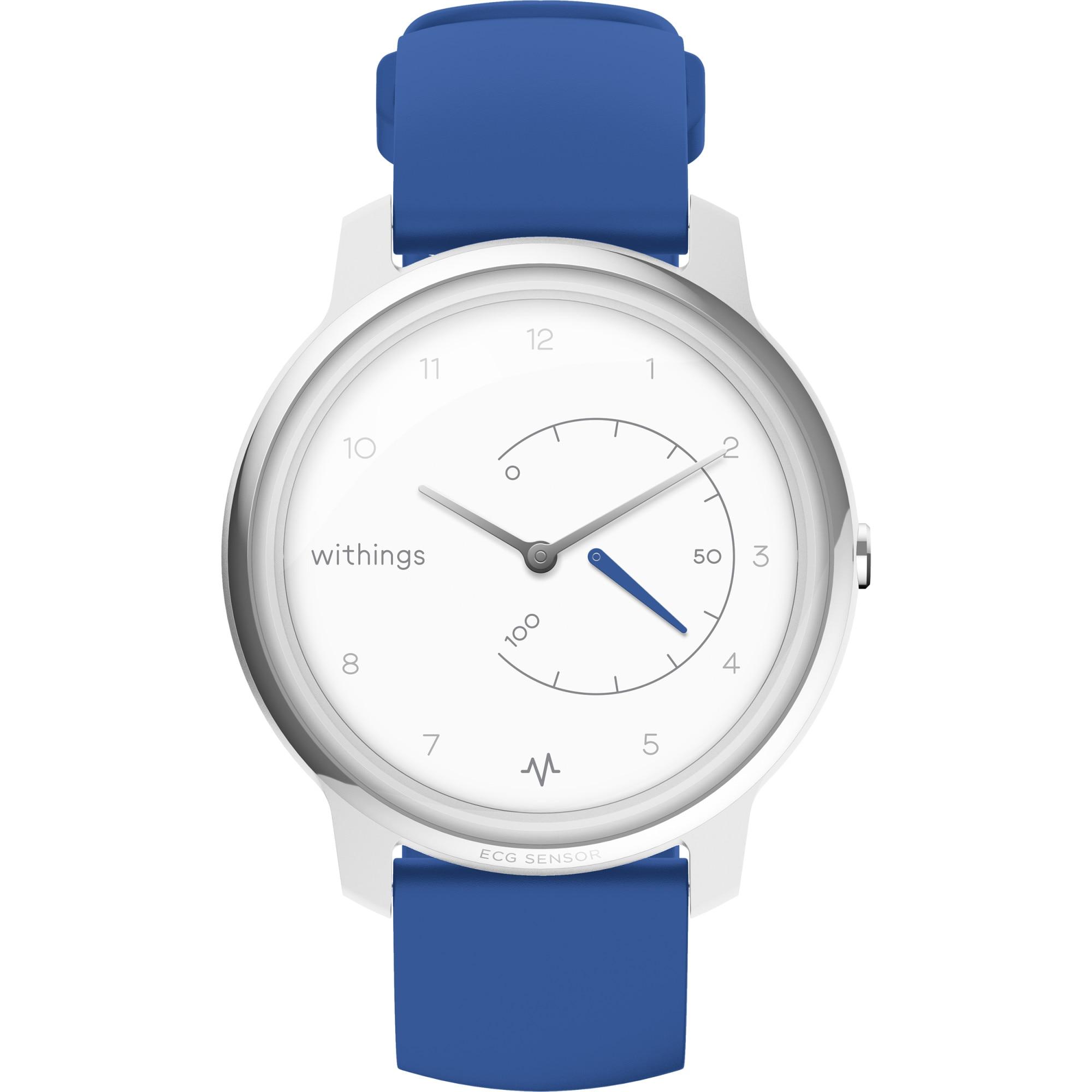 Fotografie Ceas smartwatch Withings Move ECG, Argintiu/Albastru