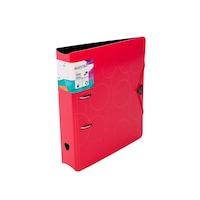 Biblioraft PP foam, cu elastic, Maestro, 7.5 cm, 386455, rosu
